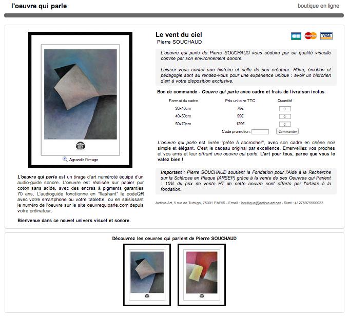 Boutique en ligne de Pierre Souchaud
